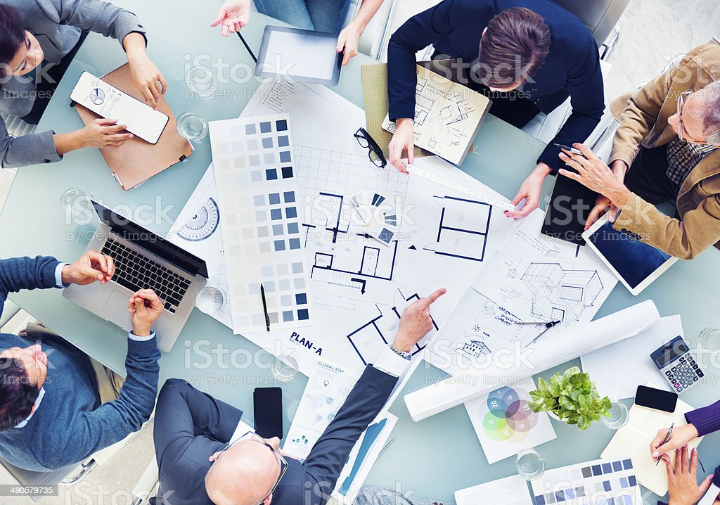 Design Team Planning for a New Project stock photo