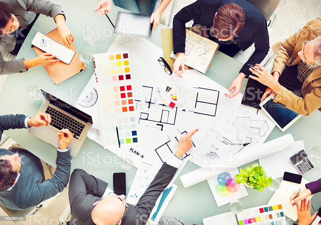 Design Team Planning New Project Teamwork Concept stock photo