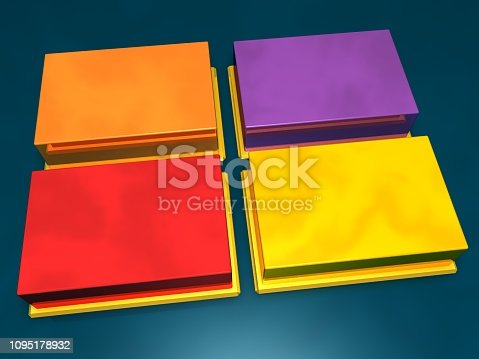 istock Design Template with Copy Space for Text - Can be used for graph, presentation, report, step options, web design. 1095178932
