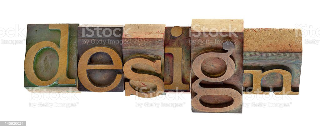 design - twisted printing blocks royalty-free stock photo