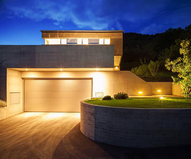 Design der villa bei Nacht – Foto
