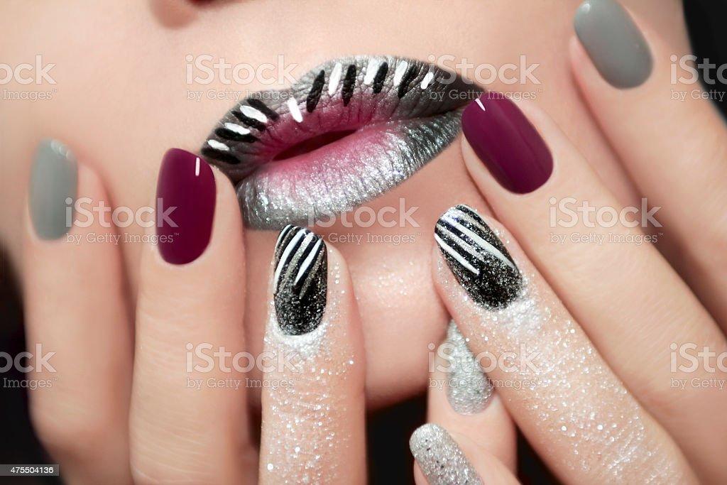Design with glitter. stock photo