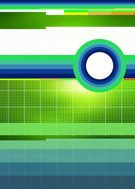 Design with grid, lines and circles stock photo