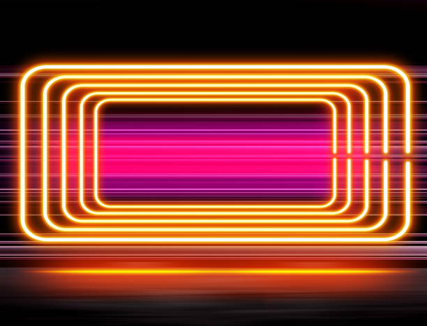 design with neon illumination - disco lights stock photos and pictures