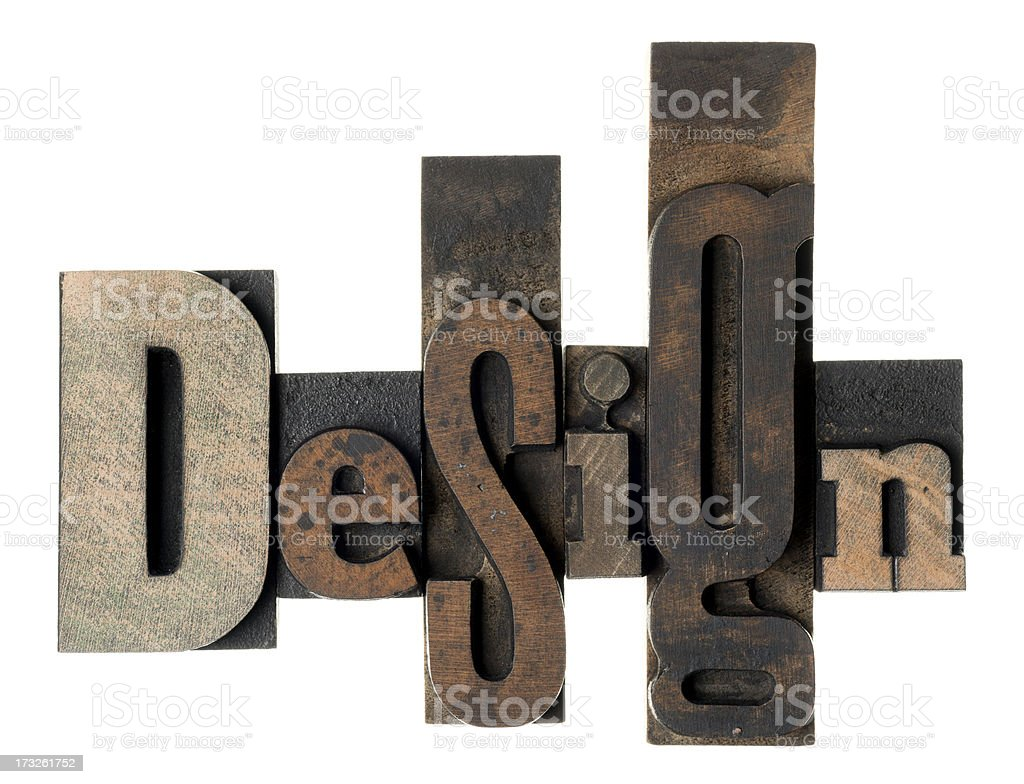 Design - wood alphabet royalty-free stock photo