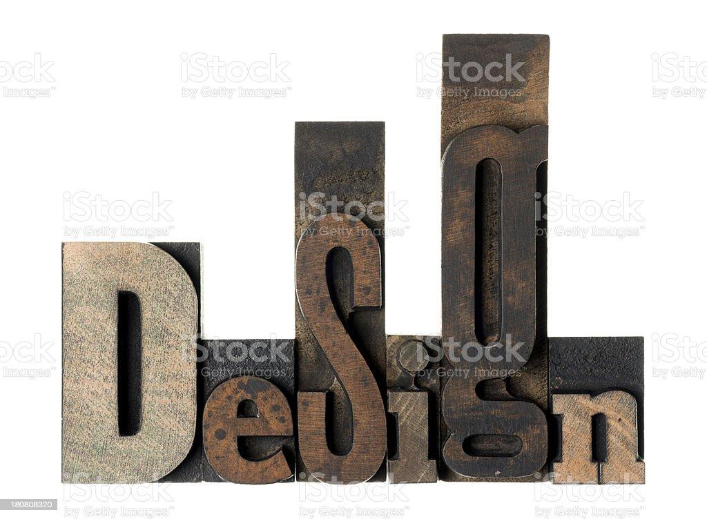 Design - wood alphabet royalty-free stock photo