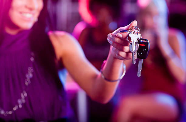 Designated Driver with Keys stock photo