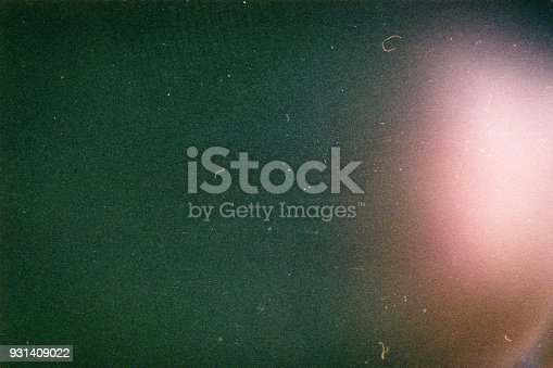Designed film background with heavy grain, dust and light leak
