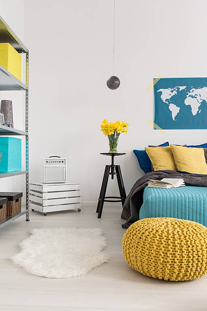 designed for pleasurable evenings and nights - do it yourself hochbett stock-fotos und bilder
