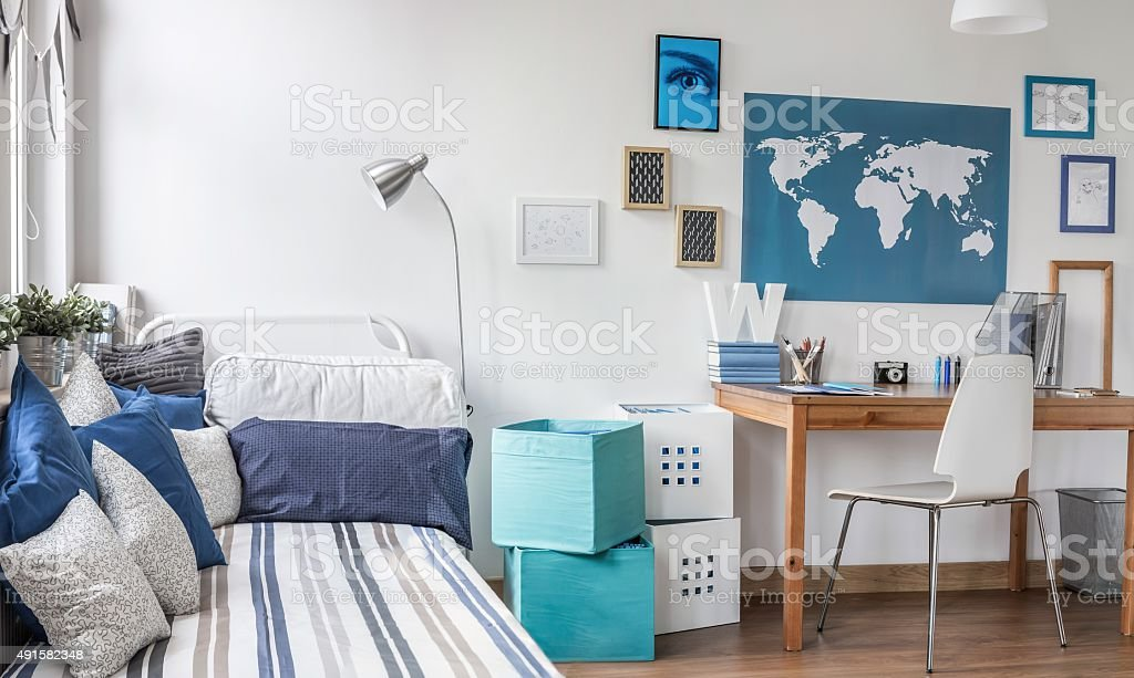 Designed room for male teenager stock photo