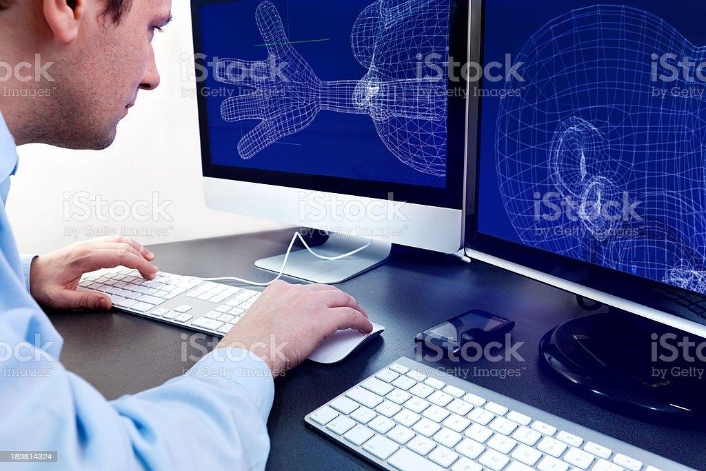 Designer 3D in work stock photo