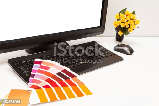 istock Designer at work. Color samples. 487363265