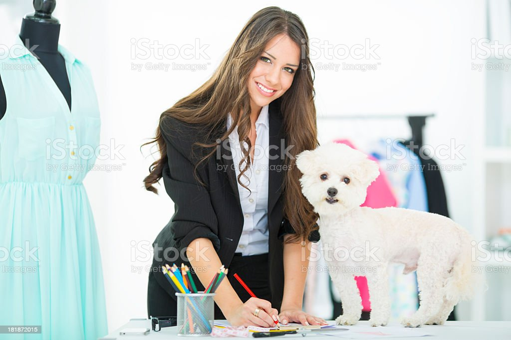 Designer At Work. stock photo