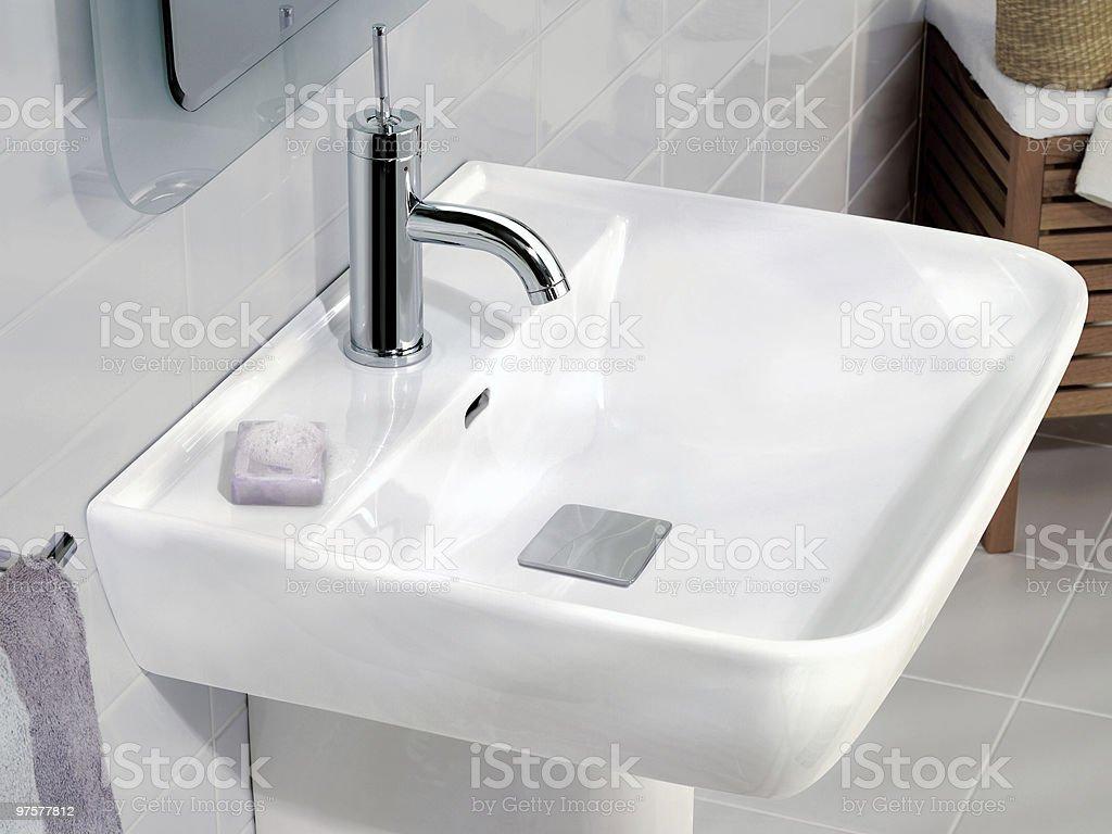 Salle de bain design photo libre de droits