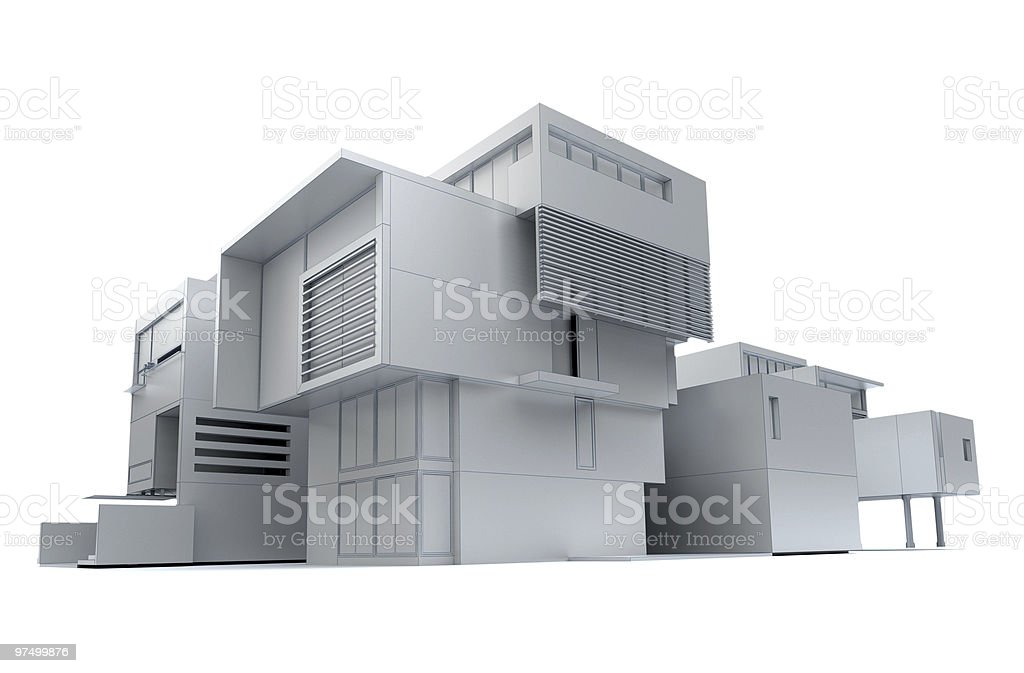 Designer building project royalty-free stock photo