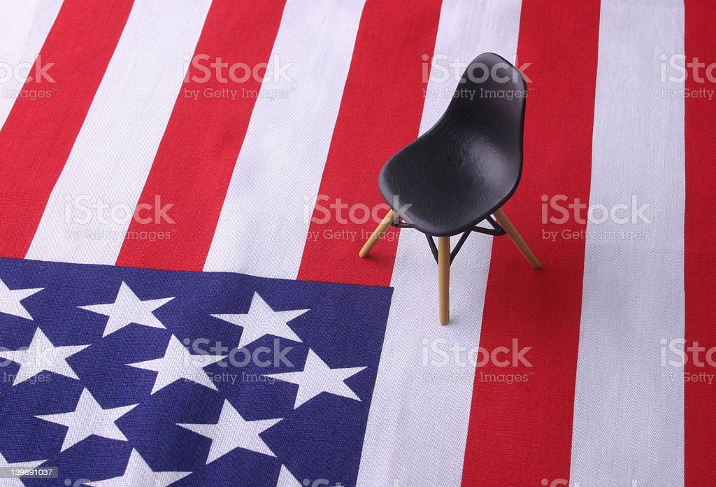 Designer Chair - 4th July royalty-free stock photo
