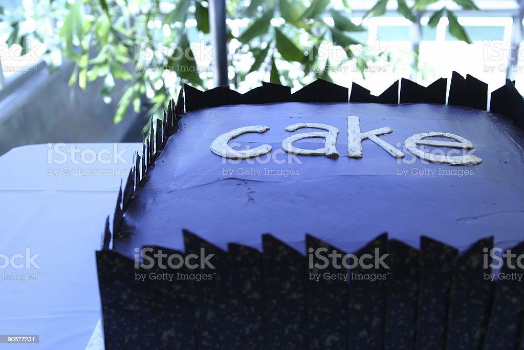 CAKE . designer chocolate royalty-free stock photo