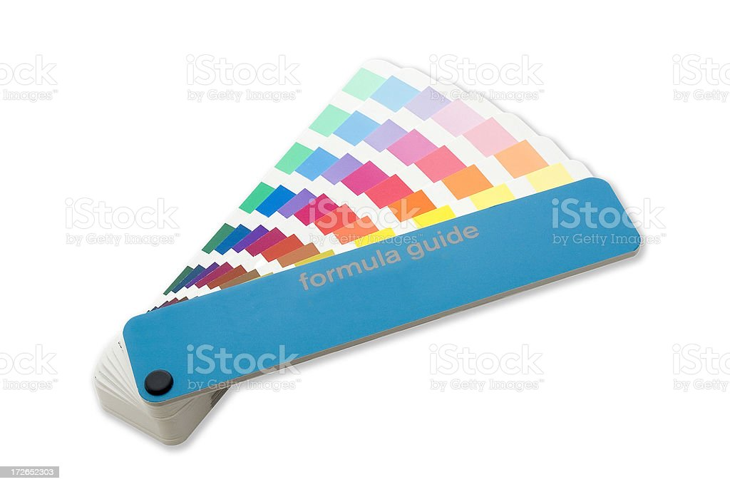 Designer Color Swatchbook royalty-free stock photo