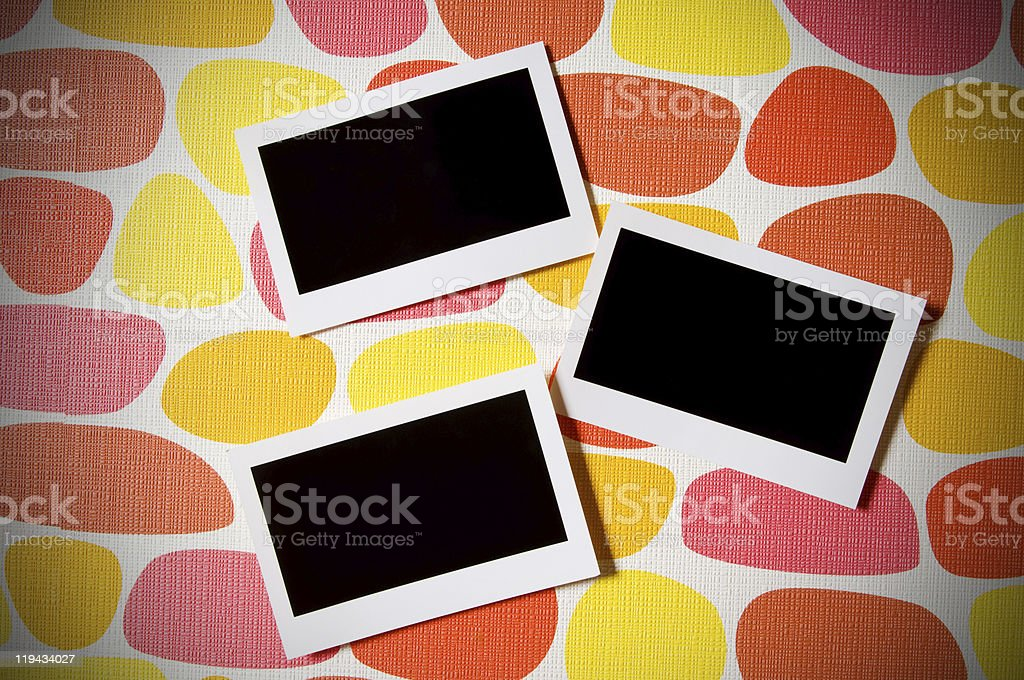 Designer concept - blank photo frames for your photos royalty-free stock photo