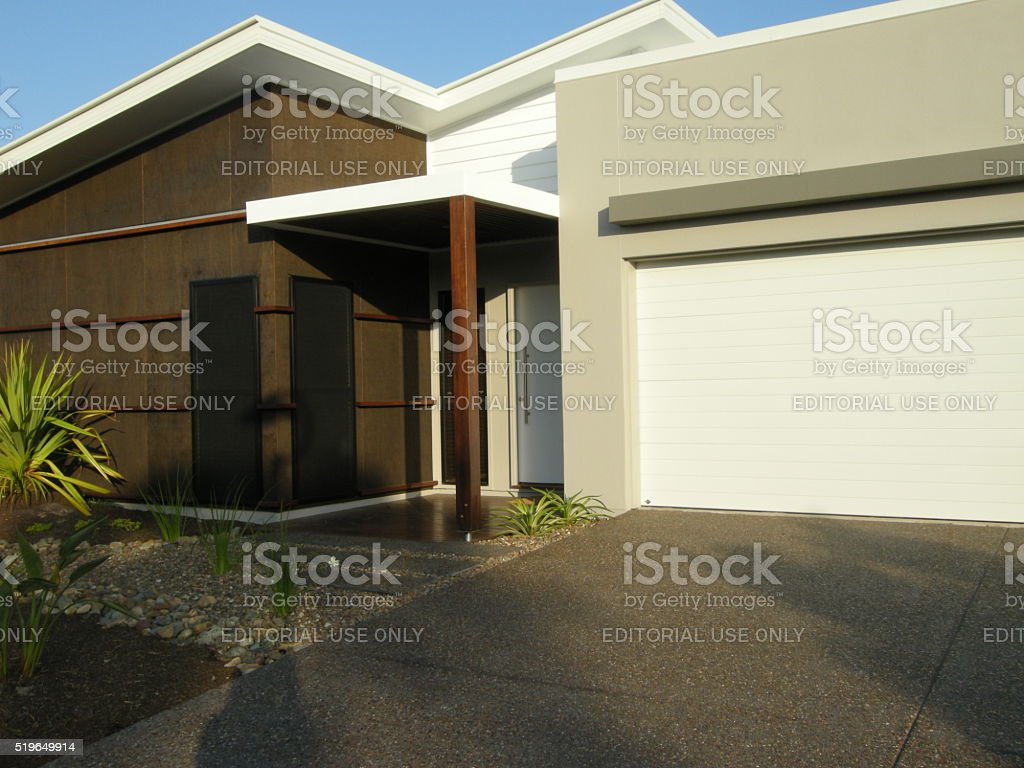 designer display home neutral tones stock photo
