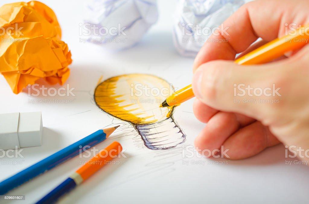 Designer Drawing stock photo
