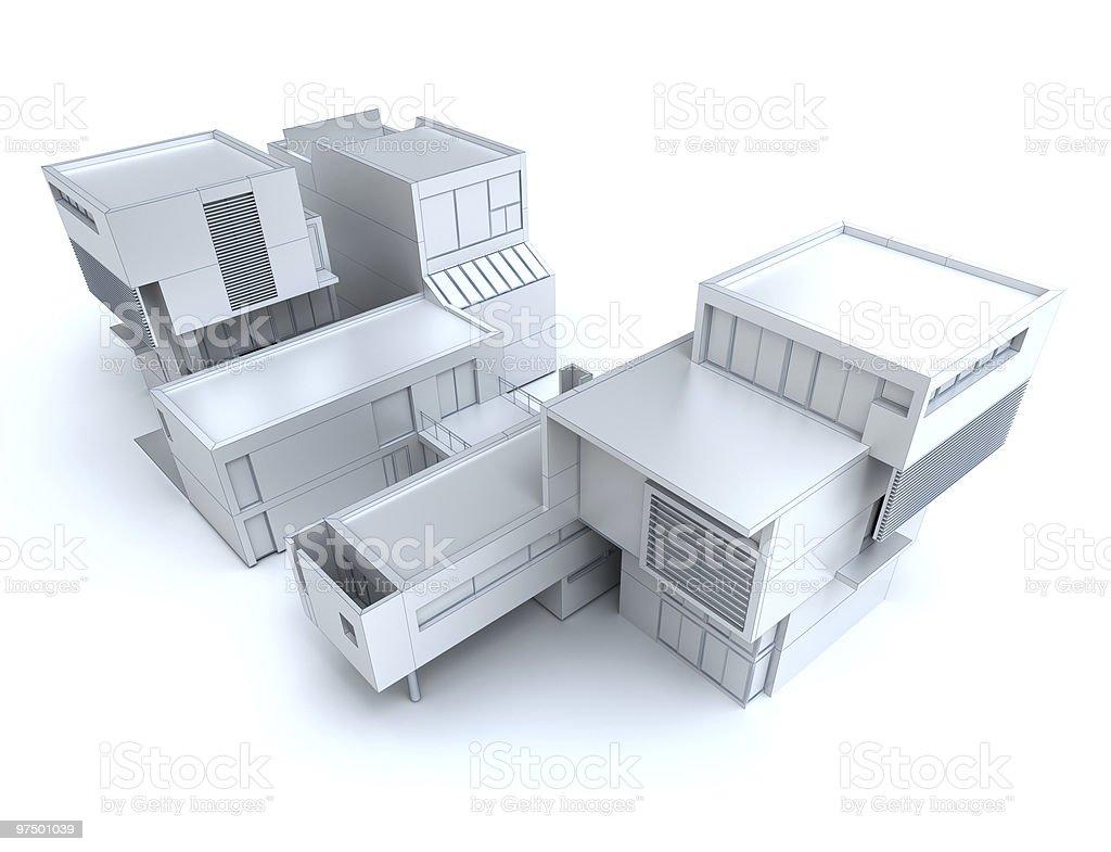 Designer house royalty-free stock photo