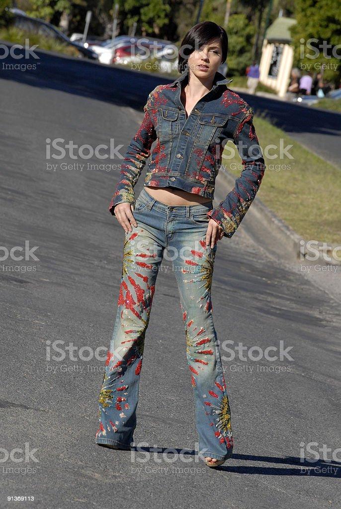 Designer Jeans royalty-free stock photo