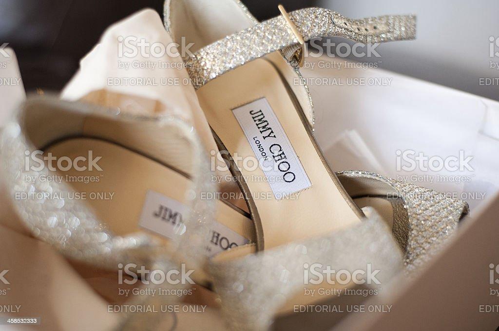 Designer Jimmy Choo Heels royalty-free stock photo