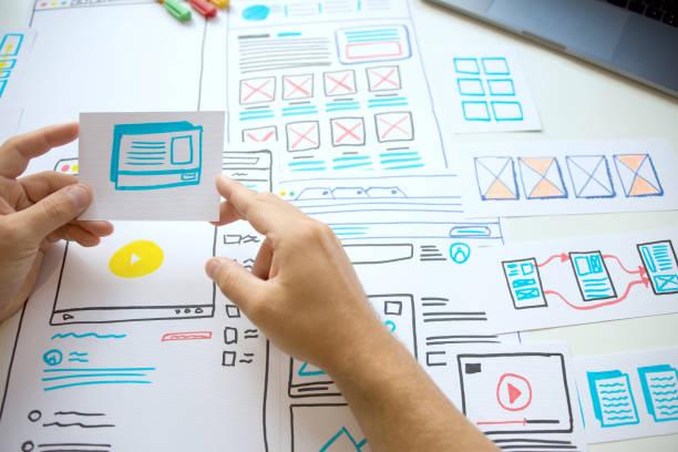designer-entwurf skizze im design-studio. - scyther5 stock-fotos und bilder