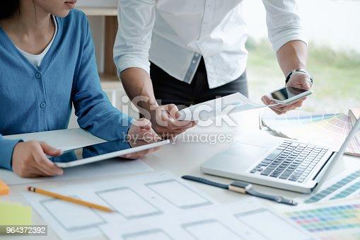 istock UX UI designer planning esponsive design. 964372392