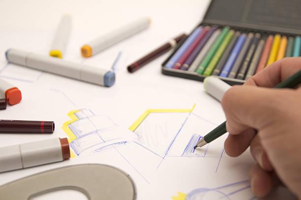 designer zeichnen - produktdesigner stock-fotos und bilder