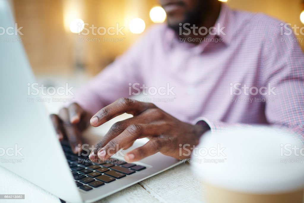 Designer typing royalty-free stock photo