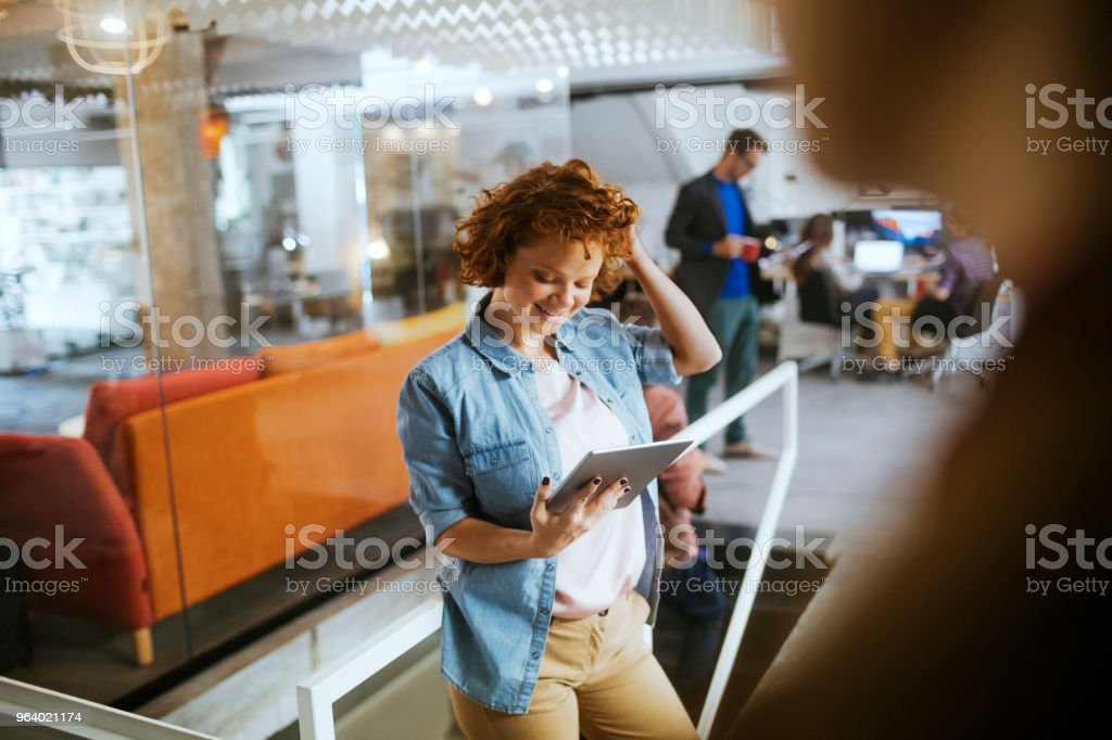 Designer using a tablet - Royalty-free 20-29 Years Stock Photo