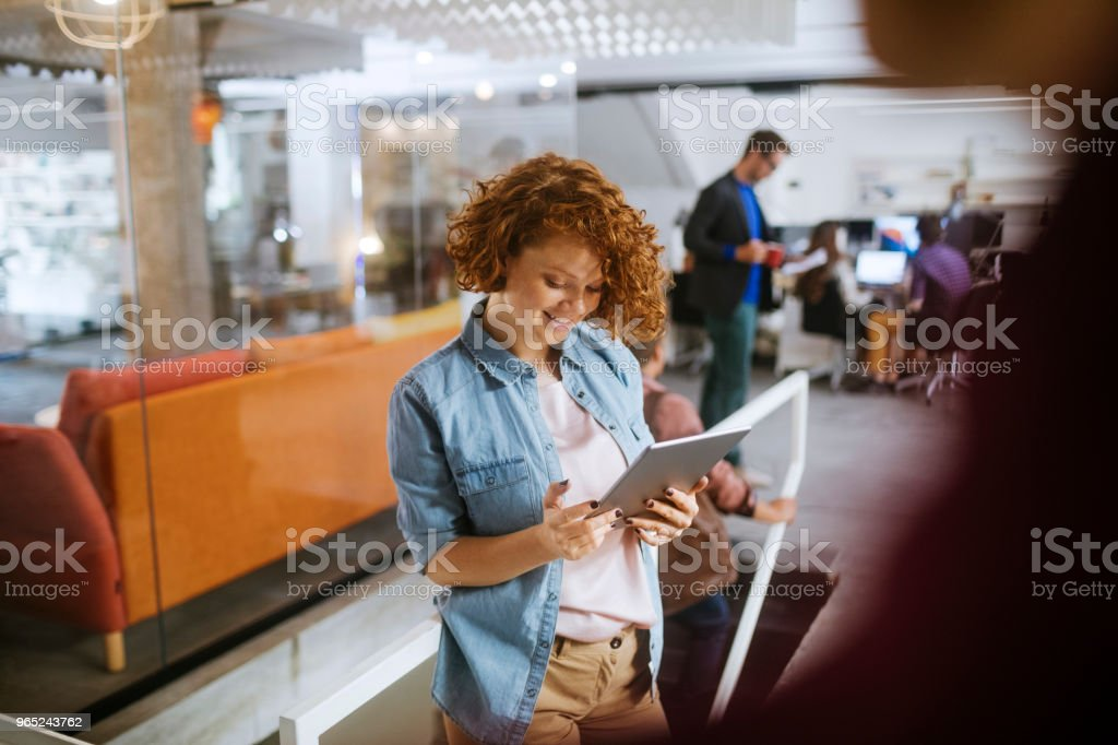 Designer using a tablet royalty-free stock photo