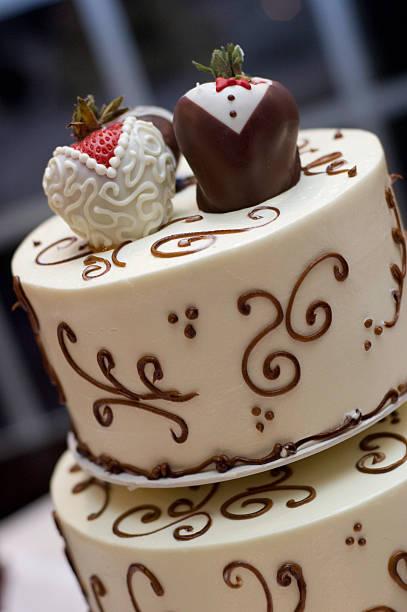 Designer Wedding Cake stock photo