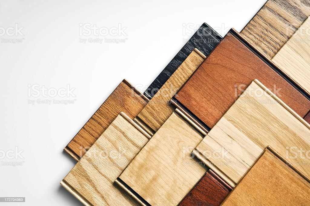 Designer Wood Samples royalty-free stock photo