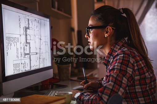 istock Designer working at home 481190686