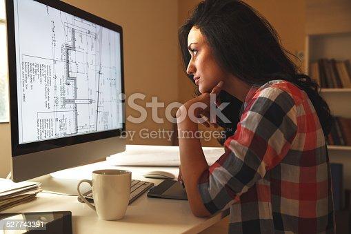 481265718 istock photo Designer working at home 527743391