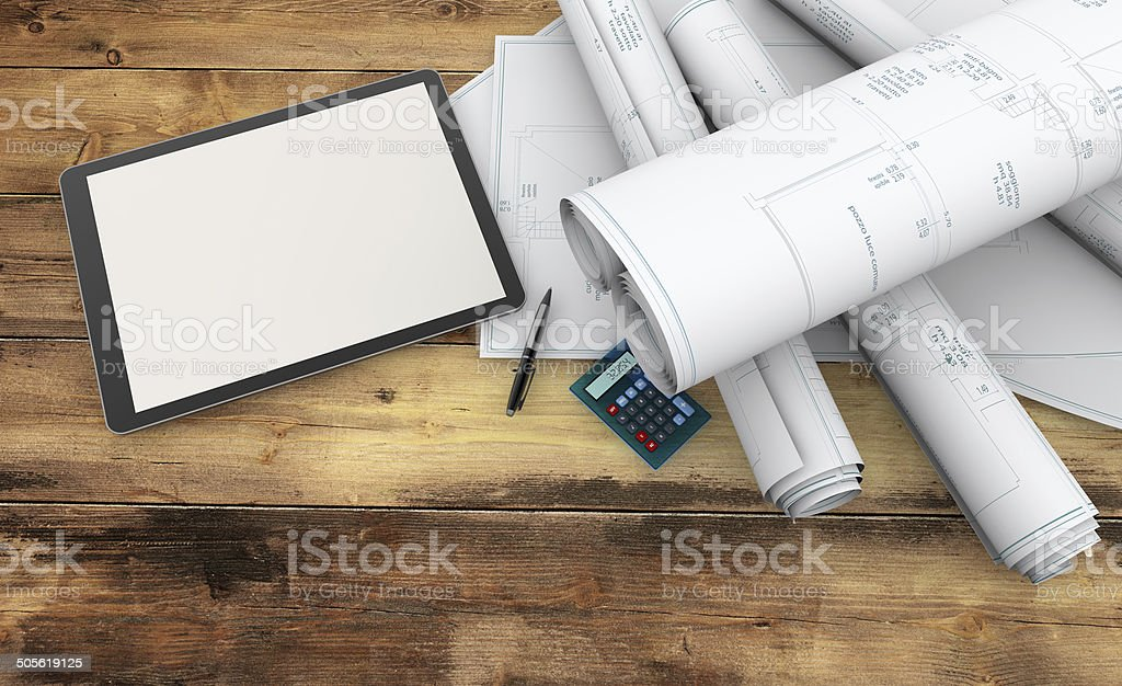 designer working tools stock photo