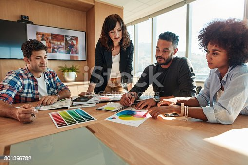 848290020istockphoto Designer working with color samples for selection 801396782