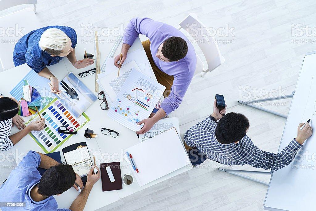 Designers brainstorming stock photo