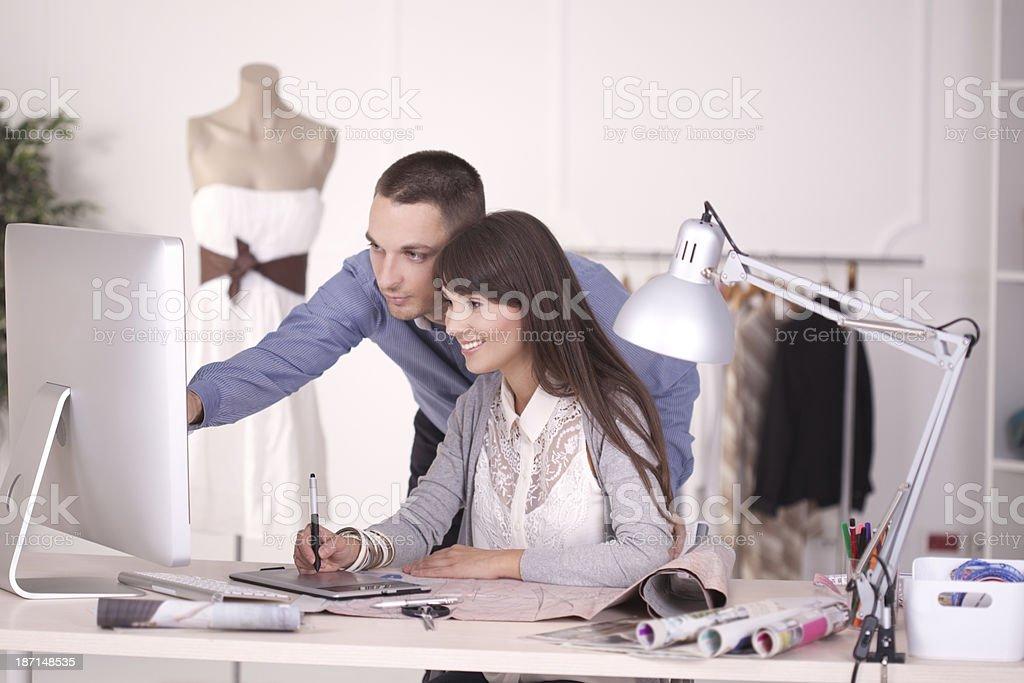 Designers Cooperating royalty-free stock photo