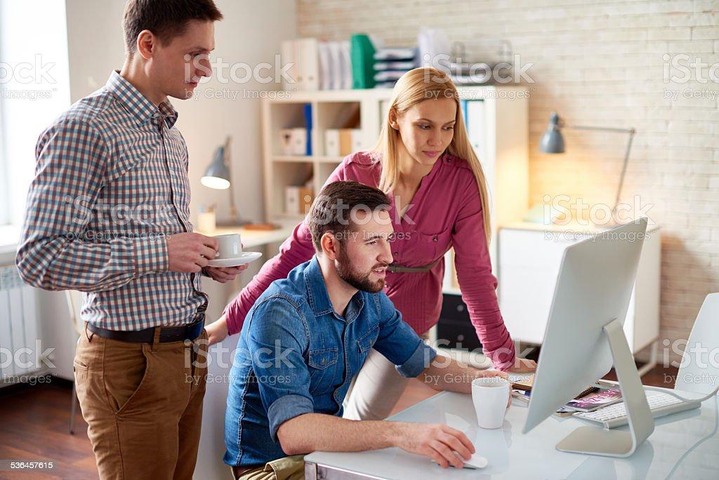 Designers cooperating stock photo