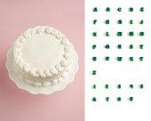 デザイナーの飾りご自身のケーキキット