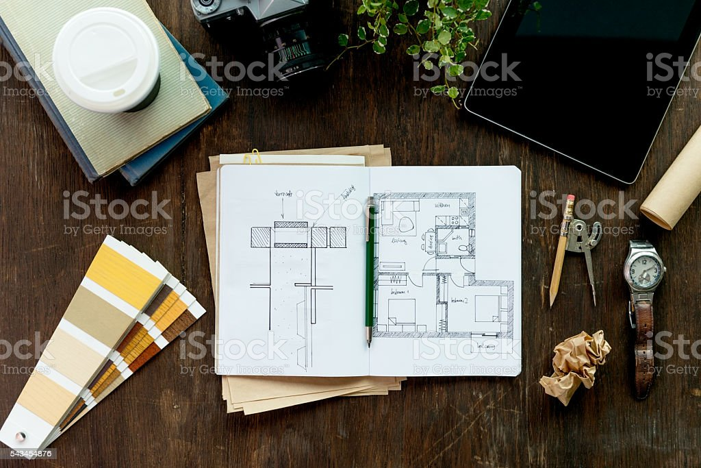 Designer's Desk stock photo
