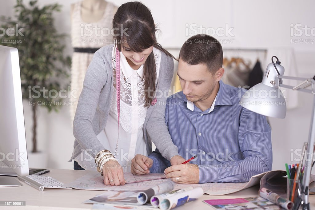 Designers working together royalty-free stock photo