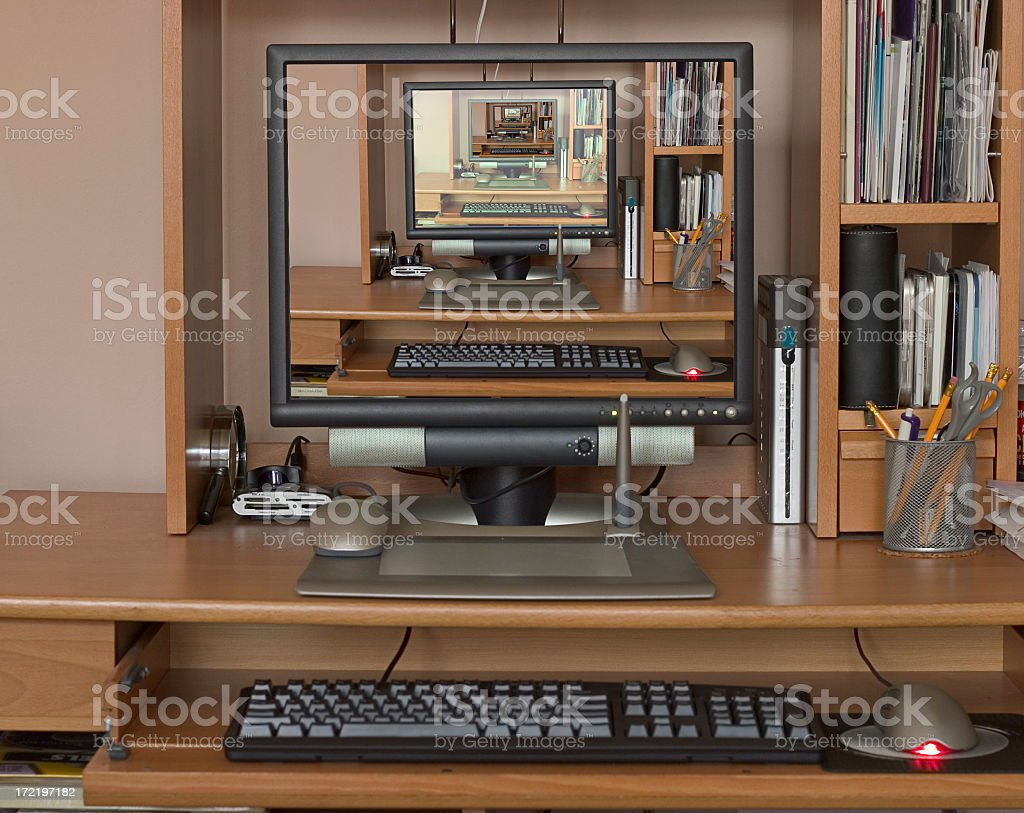Designer's workspace stock photo