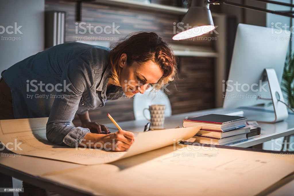 Designing a new real estate stock photo