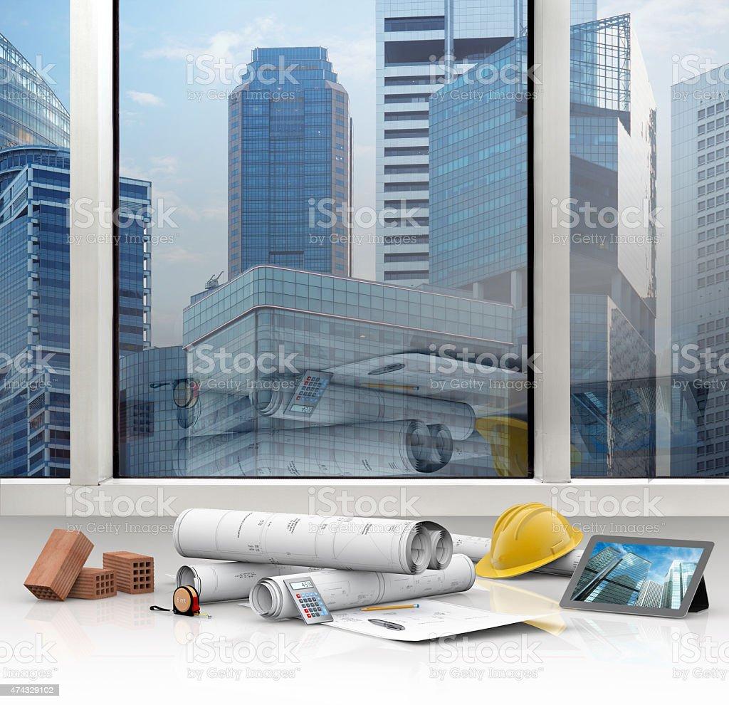 designing buildings stock photo