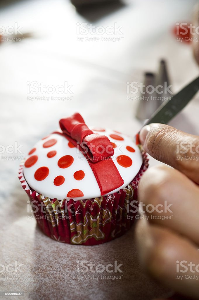 designing cupcakes stock photo